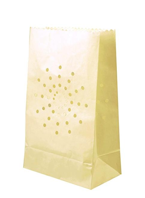 Dekorazon Yıldız Motifli 10'lu Kağıt Fener Renkli